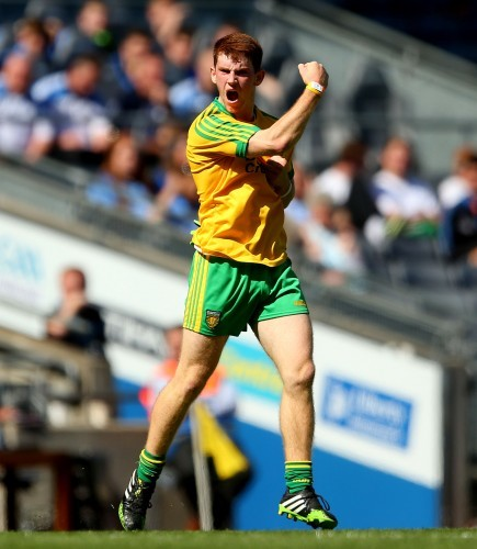 Lorcan Connor celebrates scoring a point