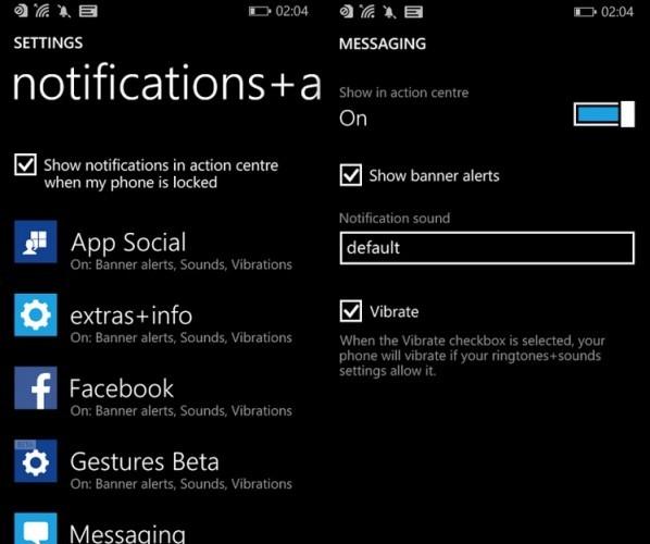 WP notifications