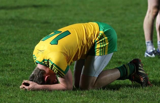 A dejected Hugh McFadden after the game 8/4/2015