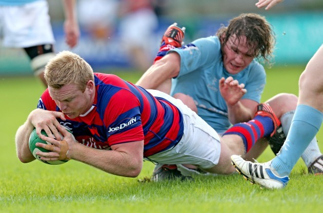 Royce Burke-Flynn scores his side's third try