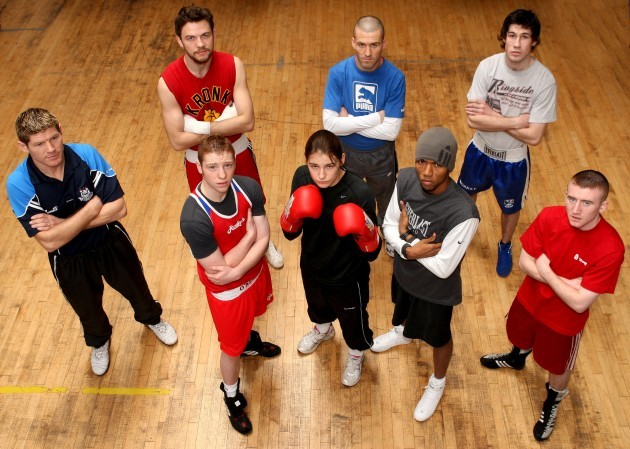 Jim Rock, Andy Lee, Michael Kelly, Andy Murray, Ray Moylette, Katie Taylor, Ricardo Cordoba and Paddy Barnes