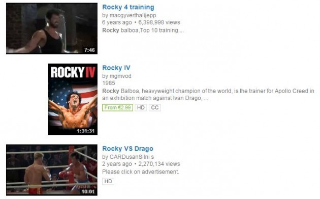 YouTube Rocky IV