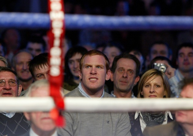 Paul O'Connell at the fight night
