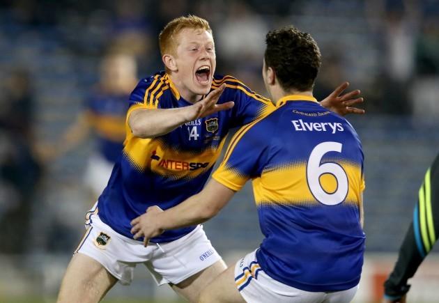 Josh Keane celebrates