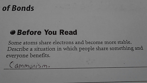 Checking my sons homework when suddenly...