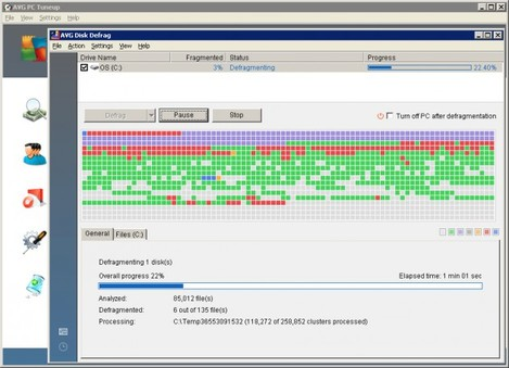 AVG Disk Defrag from PC Tuneup 2011
