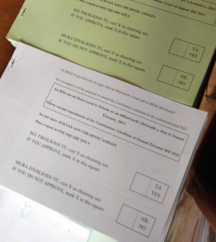 Referendum on Abolition of the Seanad Vo