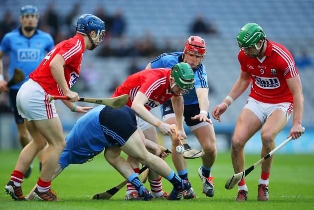 Cormac Murphy with teammates Conor O'Sullivan and Aidan Walsh
