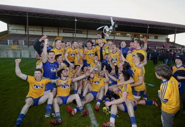 The Roscommon team celebrate winning