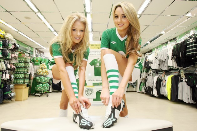 .  UMBRO officially unveiled the new Ireland Home Kit 2010 at Carroll