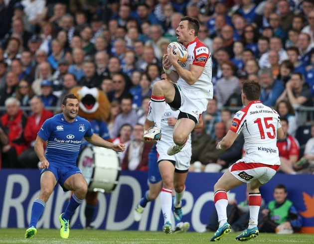 UlsterÕs Tommy Bowe catches the ball 17/5//2014