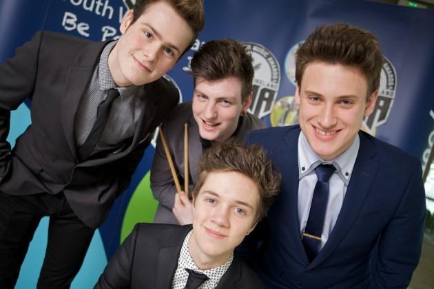 Young Belfast band Winners of the Youth Work Ireland IYMAs (Iris