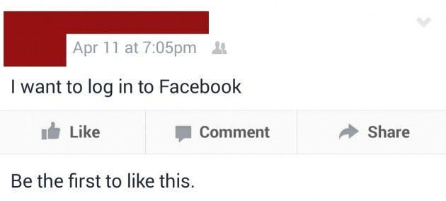 Grandpa wants to log in to Facebook