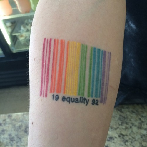 I just saw the coolest tattoo ever!!! #tattoo #gay #equality