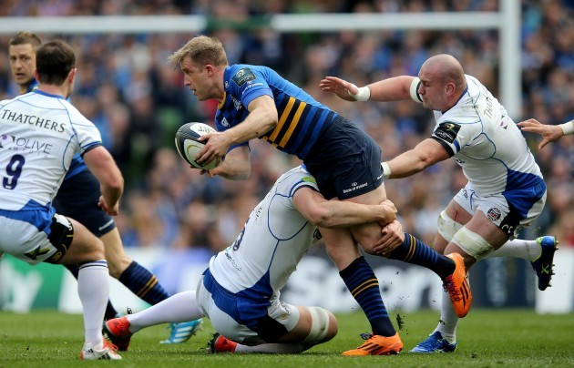 Luke Fitzgerald with Dave Attwood