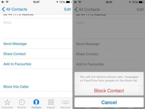 iOS Block call
