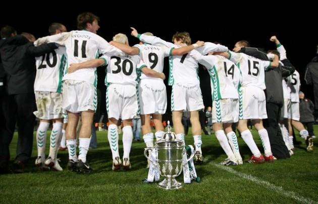 The Cork team celebrate victory 2/12/2007