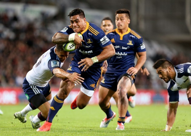 Malakai Fekitoa on his way to scoring a try