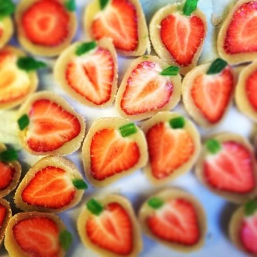 Sun ripened #Irish #Strawberries make #SimplyDelicious Strawberry #Almondine