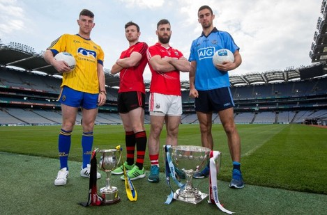 Neil Collins and Donal OÕHare with Colm OÕDriscoll and James McCarthy