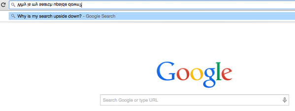 search google or type url