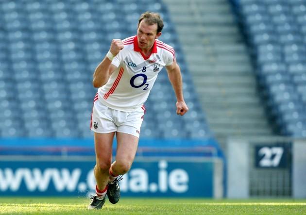 Alan O'Connor celebrates