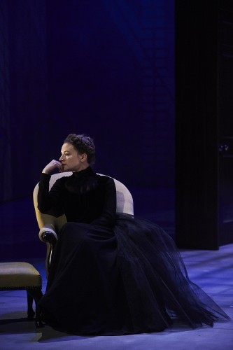 Catherine Walker as Hedda in Abbey Theatre's new version of Ibsen's classic by writer Mark O'Rowe Pic  Ros Kavanagh