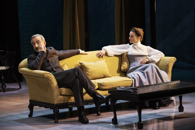 Declan Conlon and Catherine Walker  in Abbey Theatre's new version of Ibsen's classic by writer Mark O'Rowe Pic  Ros Kavanagh