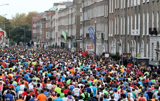 General view of Dublin Marathon as it makes its way down Lesson Street