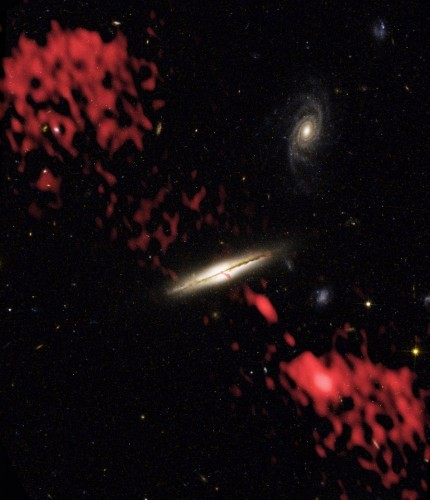 before-hubble-and-very-large-array-vla-combined-forces-to-create-this-image-astronomers-thought-that-only-elliptical-galaxies-could-produce-powerful-jets-of-subatomic-particles-like-the-jet-indica