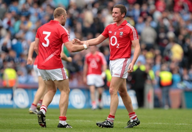 Michael Shields and Paddy Kelly celebrate