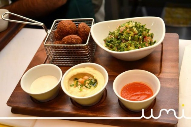The Falafel Plate with Tabouleh Salad, Hummus ...