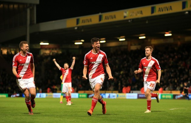 Soccer - Sky Bet Championship - Norwich City v Middlesbrough - Carrow Road