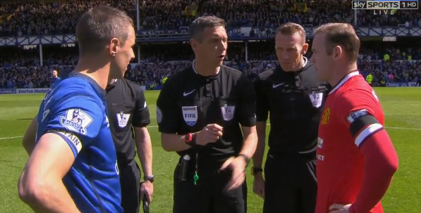 Captains Everton Man United