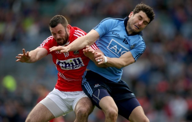 Noel Galvin with Bernard Brogan