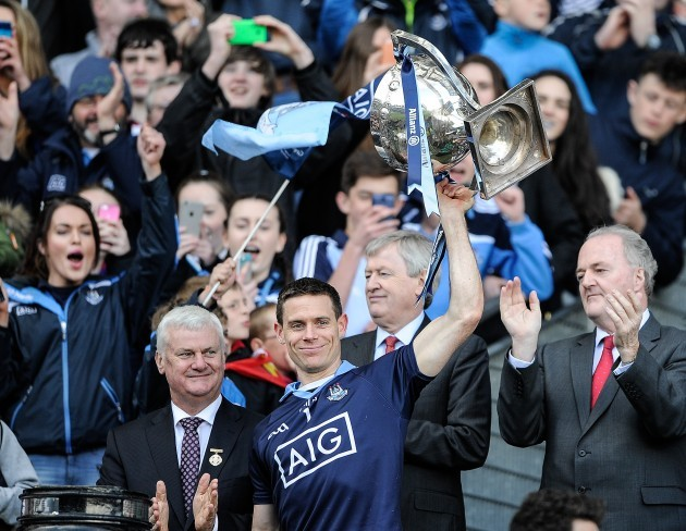 Stephen Cluxton lifts the cup