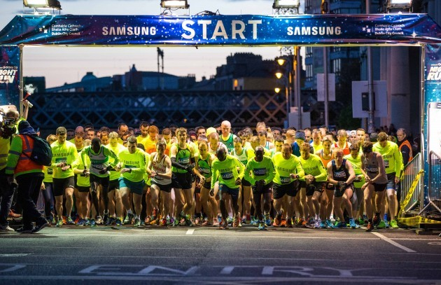 General view of start of the 2015 Samsung Night Run