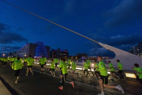Competitors competing in the Samsung Night Run