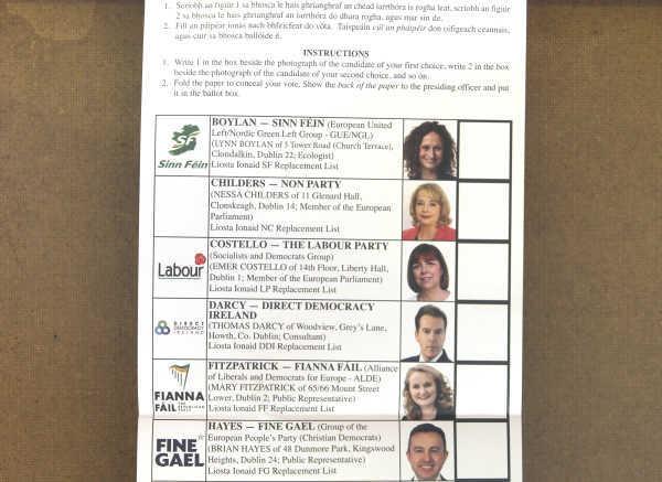 ballot paper - 1