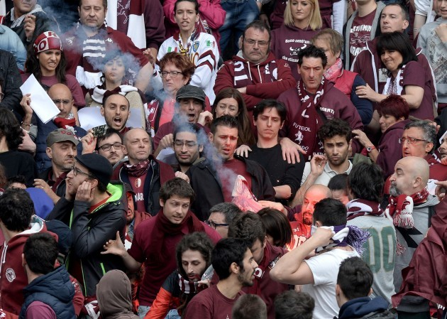 Italy Soccer Turin Derby Violence