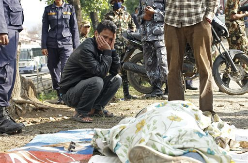 Nepal Digging for the Dead