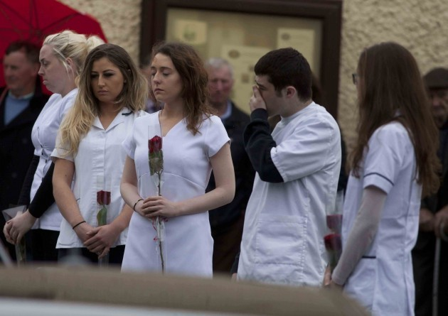Karen Buckley Funeral. Hundreds of mourn