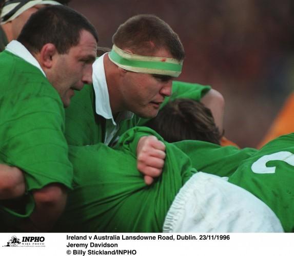 Jeremy Davidson Ireland v Australia Lansdowne Road, Dublin. 23/11/1996