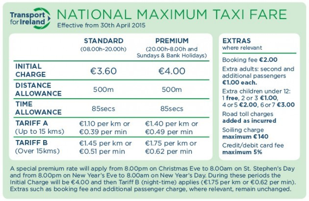 Getting a taxi today? It'll cost you more than usual · TheJournal ie