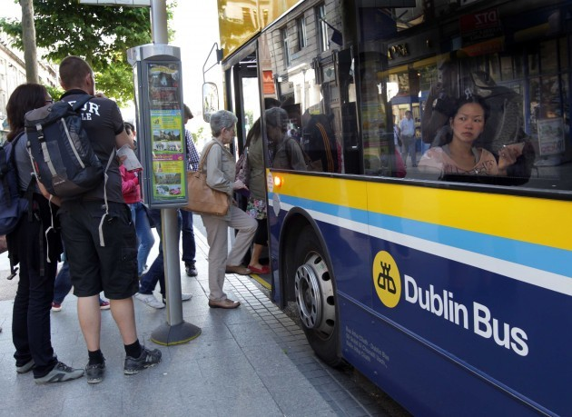 File Photo Bank Holiday travel headaches as bus workers stage day of action.