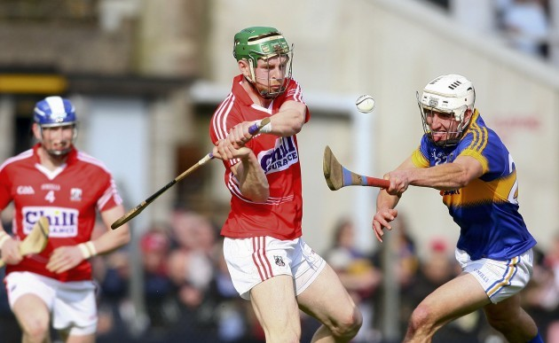 Cormac Murphy in action against Sean Maher