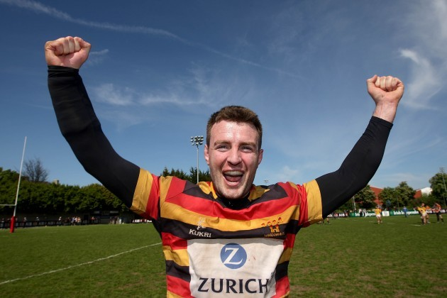 Dominic Ryan celebrates after the game