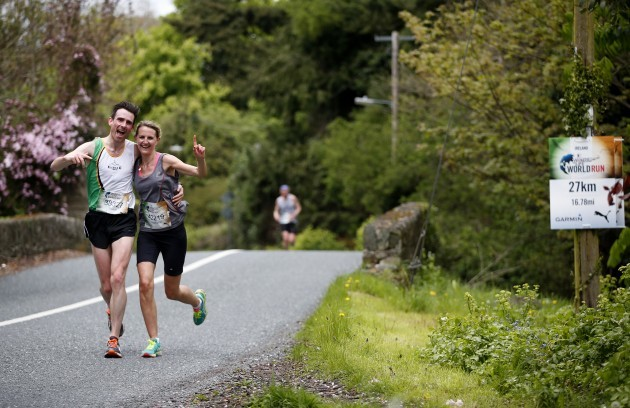 Competitors pictured today running in the Irish leg of the Wings for Life World Run