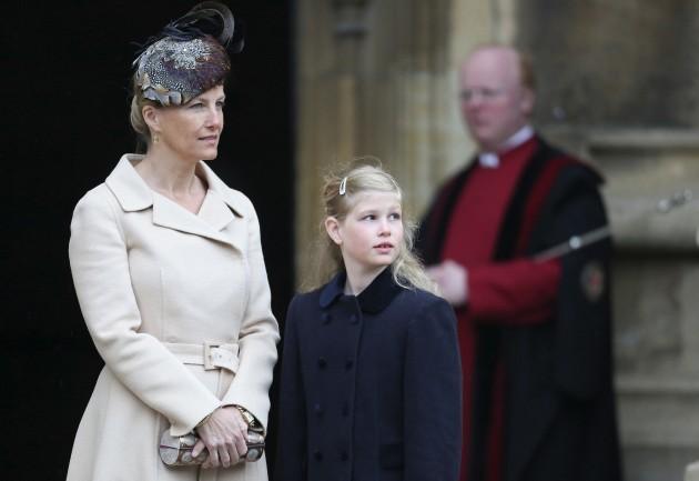 Easter Sunday service at Windsor Castle