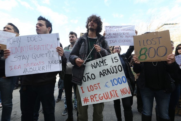 05/05/2015. International Students Protest. Pictur